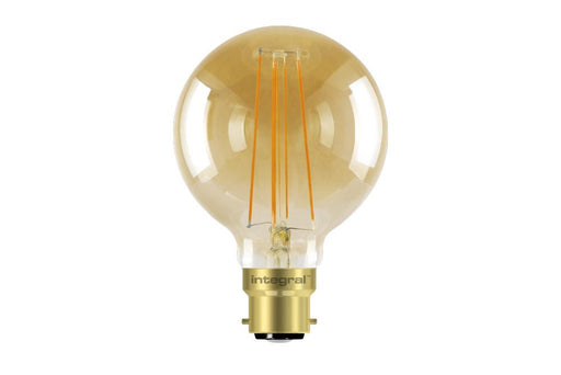 Integral LED Sunset Vintage Globe 95mm 5W (40W) 1800K 380lm B22 Dimmable Lamp - Prisma Lighting
