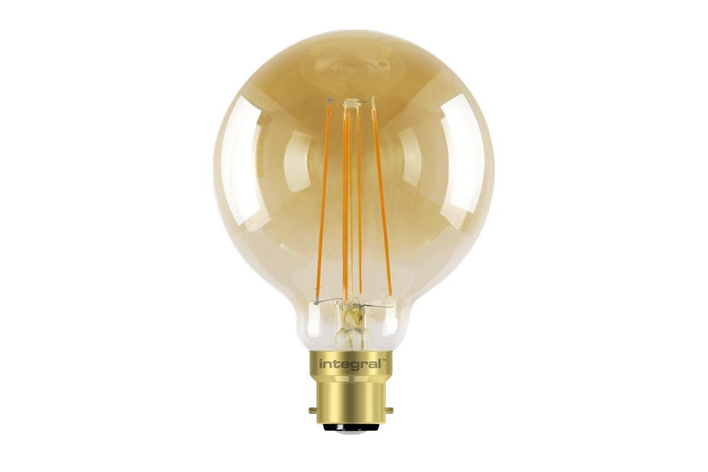 Integral LED Sunset Vintage Globe 80mm 5W (40W) 1800K 380lm B22 Dimmable Lamp - Prisma Lighting