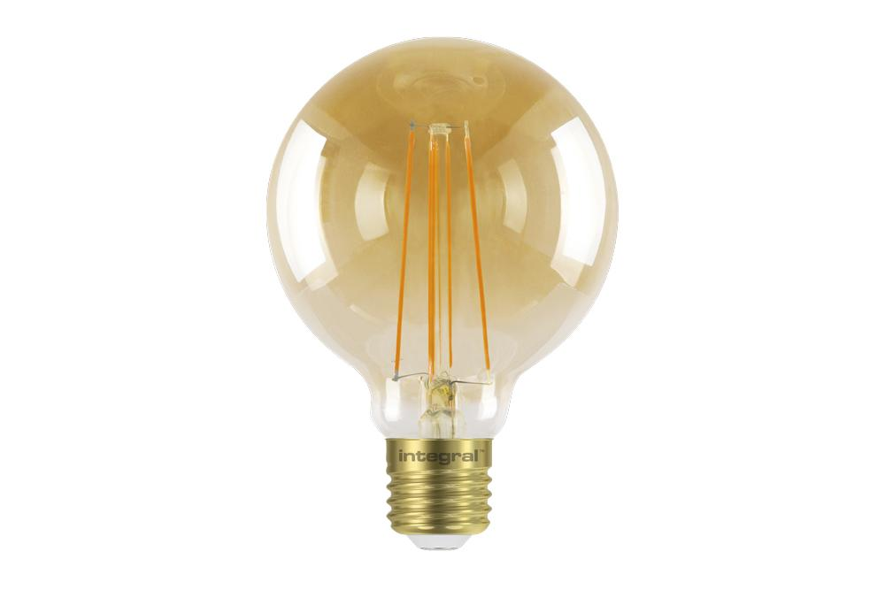 Integral LED Sunset Vintage Globe 95mm 5W (40W) 1800K 380lm E27 Dimmable Lamp - Prisma Lighting