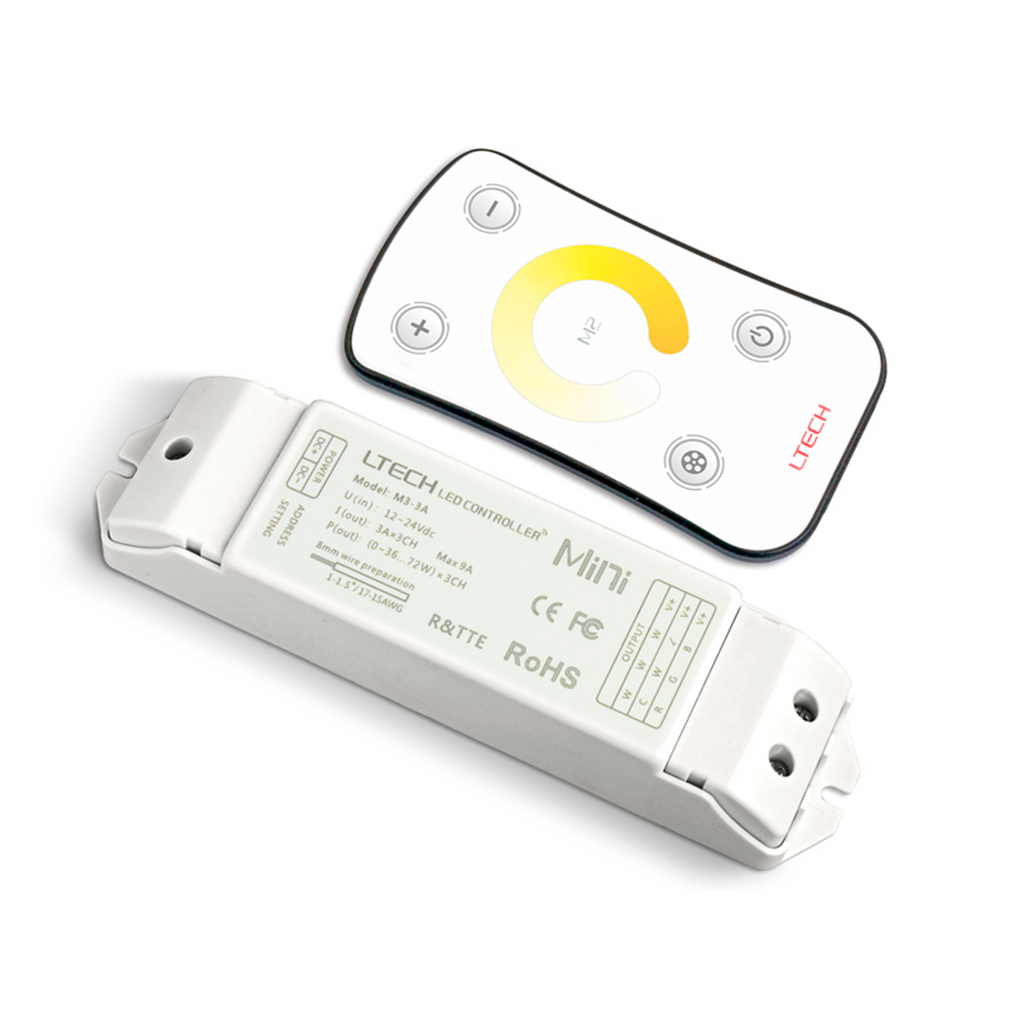 Integral Colour Temperature Changing Remote Control and Receiver (For Warm to Cool White Tape Only)