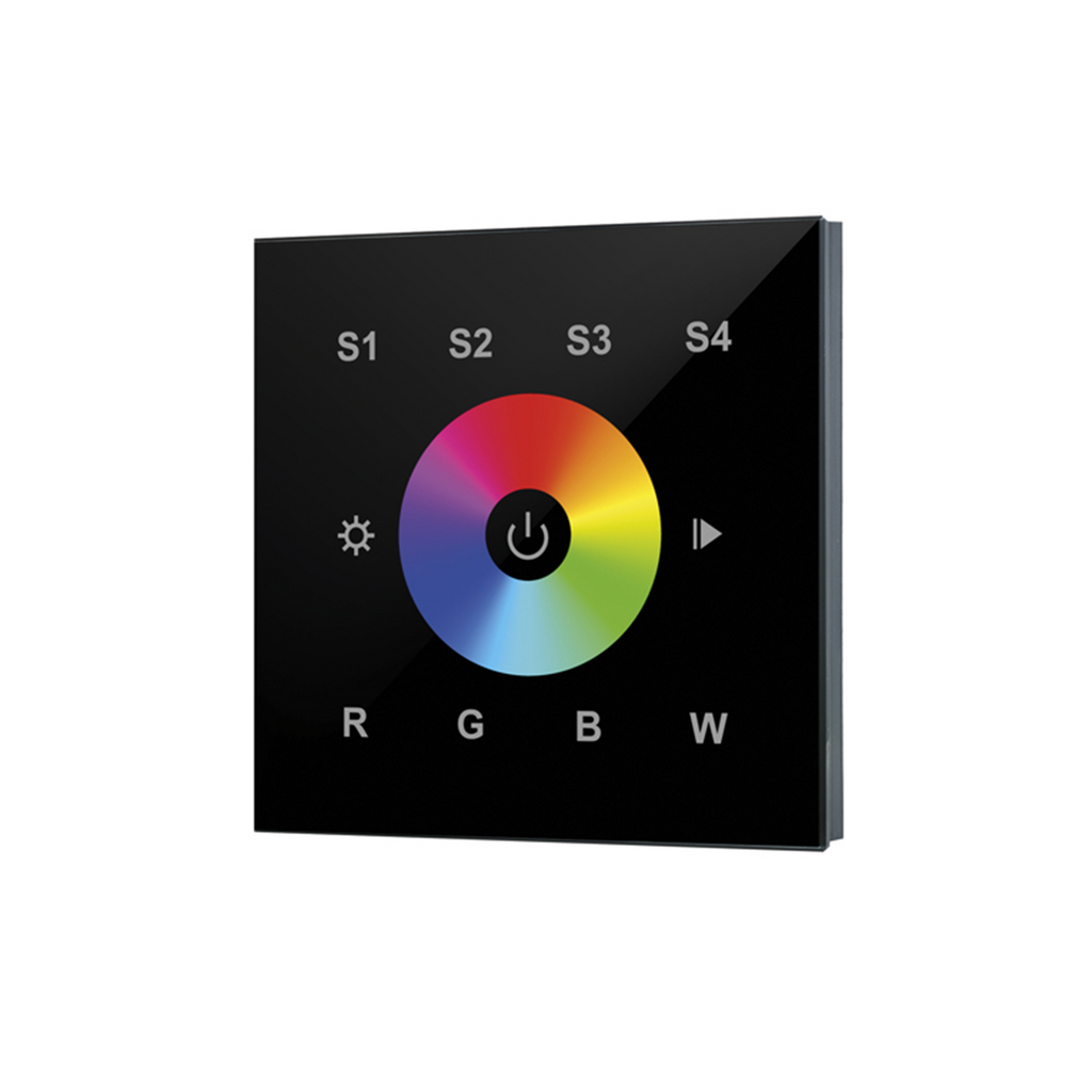 Integral RF RGBW Wall-mounted Touch Remote 1 Zone (Black) - Prisma Lighting