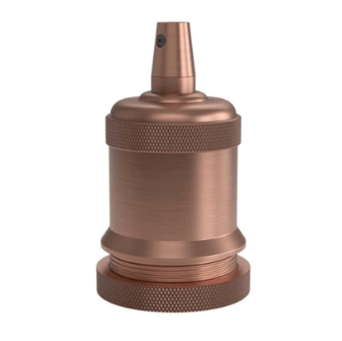 Calex Satin Copper Lamp Holder E27 - Prisma Lighting