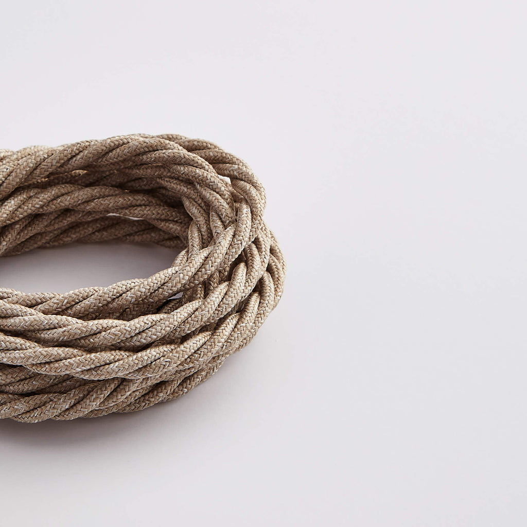 Prisma Linen 3 Core 0.5mm Twisted Cable (Sold by the Metre)