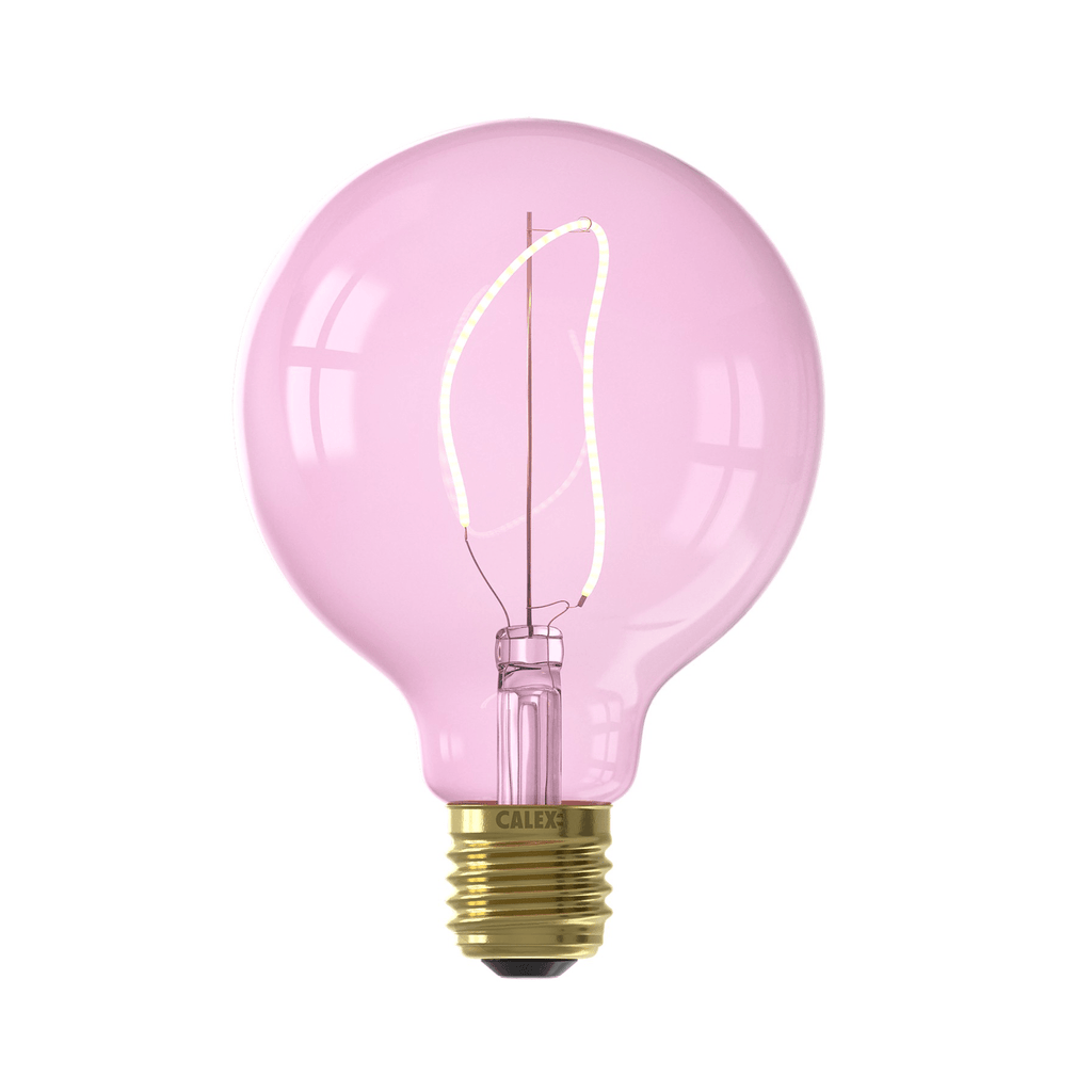 Calex Nora G95 Quartz Pink led lamp 4W 150lm 2000K Dimmable - Prisma Lighting