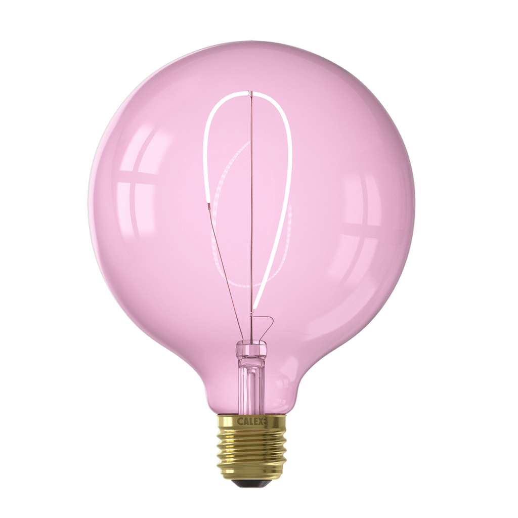 Calex Nora G125 Quartz Pink led lamp 4W 150lm 2000K Dimmable - Prisma Lighting