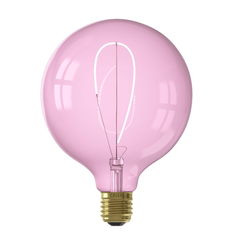 Calex Nora G125 Quartz Pink LED Bulb Dimmable