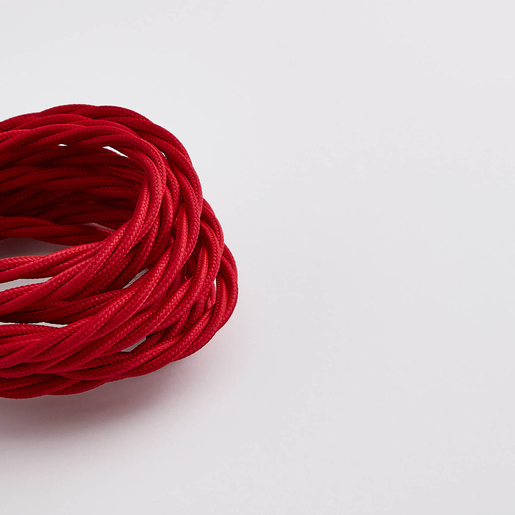 Prisma Ruby Red 3 Core 0.5mm Twisted Cable - Prisma Lighting