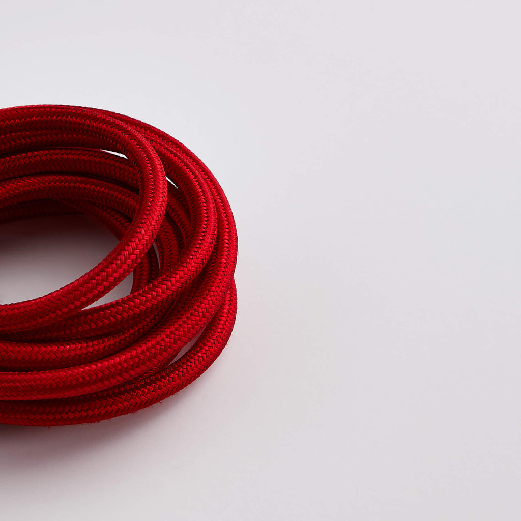 Prisma Crimson Red 3 Core 0.5mm Solid Braid Cable (Sold by the Metre)