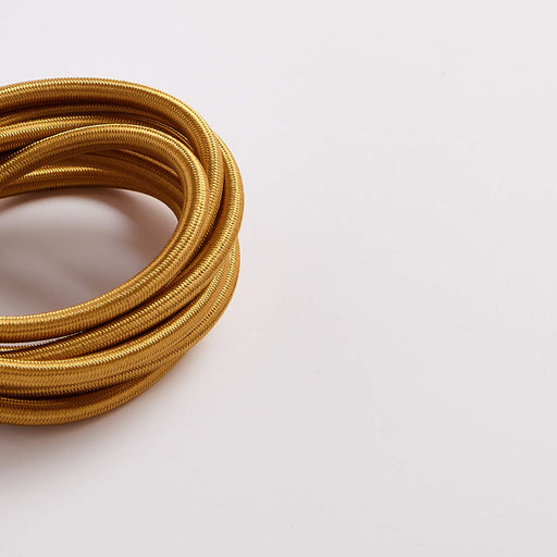 Prisma Satinwood Gold 3 Core 0.5mm Solid Braid Cable (Sold by the Metre)
