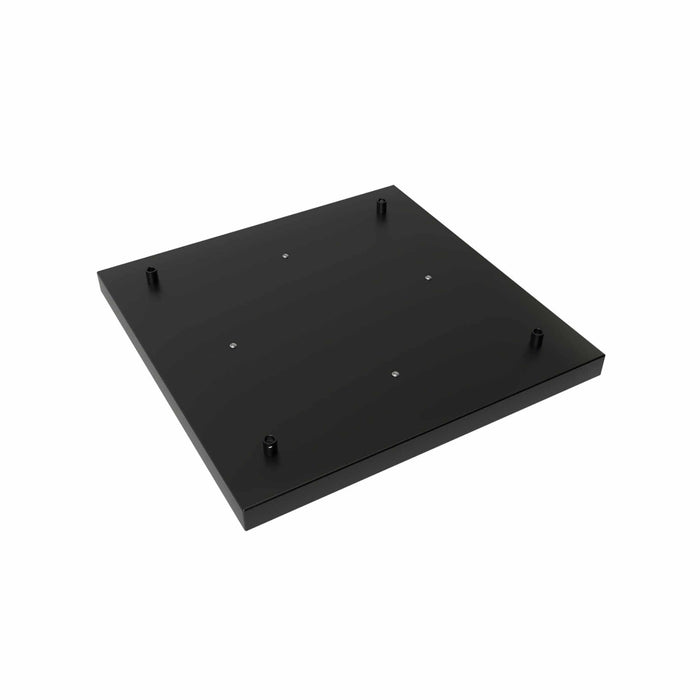 Calex 940142 Metal Ceiling Plate 40x40cm 4 Hole Matt Black