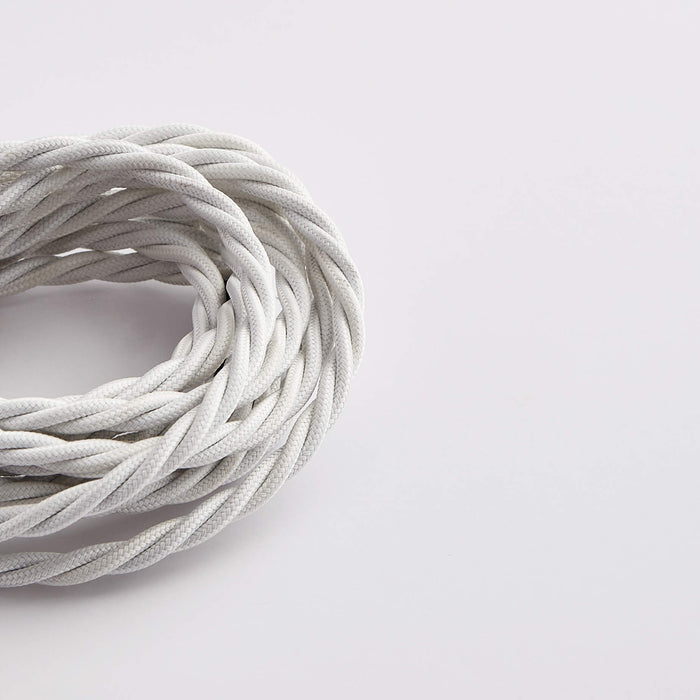 Prisma Bright White 3 Core 0.5mm Twisted Cable (Sold by the Metre)