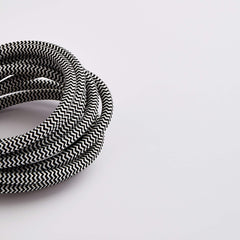Prisma Black/White 3 Core 0.5mm Solid Braid Cable (Sold by the Metre)