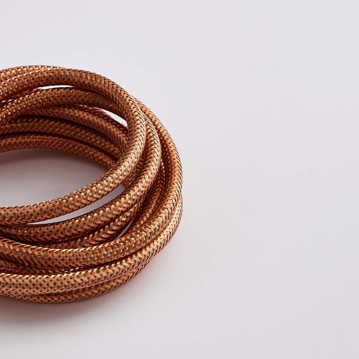 Plain Real Copper Metal 3 Core 0.5mm Solid Braid Cable (Sold by the Metre)