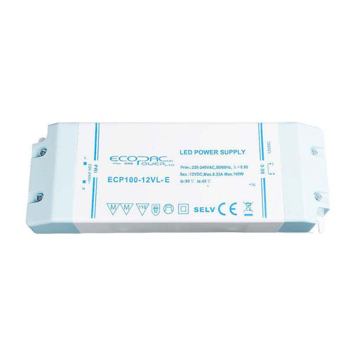 Ecopac LED Driver 100W 24V (Low Profile)