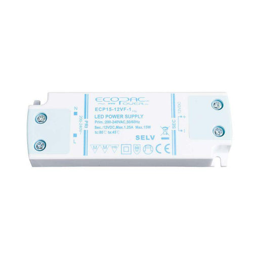 Ecopac LED Driver 15W 12V (Low Profile)