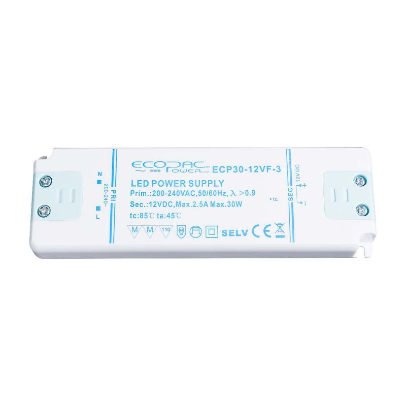 Ecopac LED Driver 30W 12V (Low Profile)