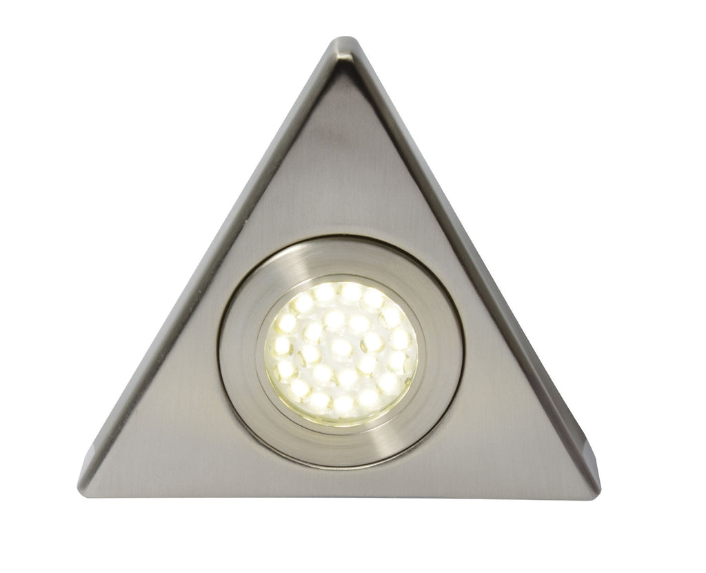 Fonte LED 1.5W Triangle Cool White Under Cupboard Light 240V - Prisma Lighting