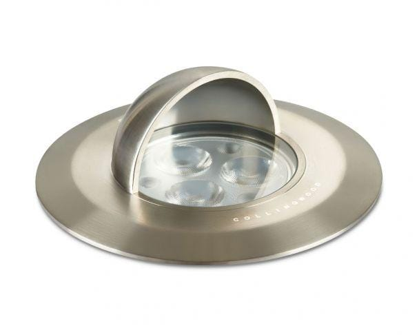 Collingwood GL034A 3.6W IP68 Straight to Mains Hooded LED Wall / Ground Light - Prisma Lighting