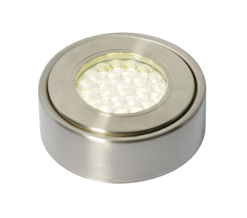 Laghetto LED 1.5W Circular Cool White Under Cupboard Light 240V - Prisma Lighting