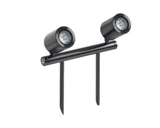 Collingwood SL240BWBM27 Black Mains Voltage Led Twin Bar Spike Light 2700K - Prisma Lighting