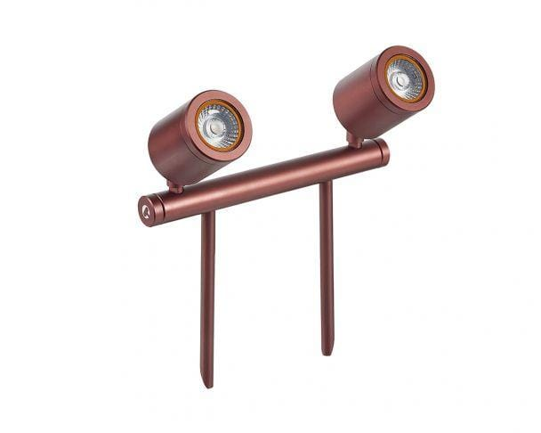 Collingwood SL240ZWBM27 Bronze Mains Voltage Led Twin Bar Spike Light 2700K - Prisma Lighting