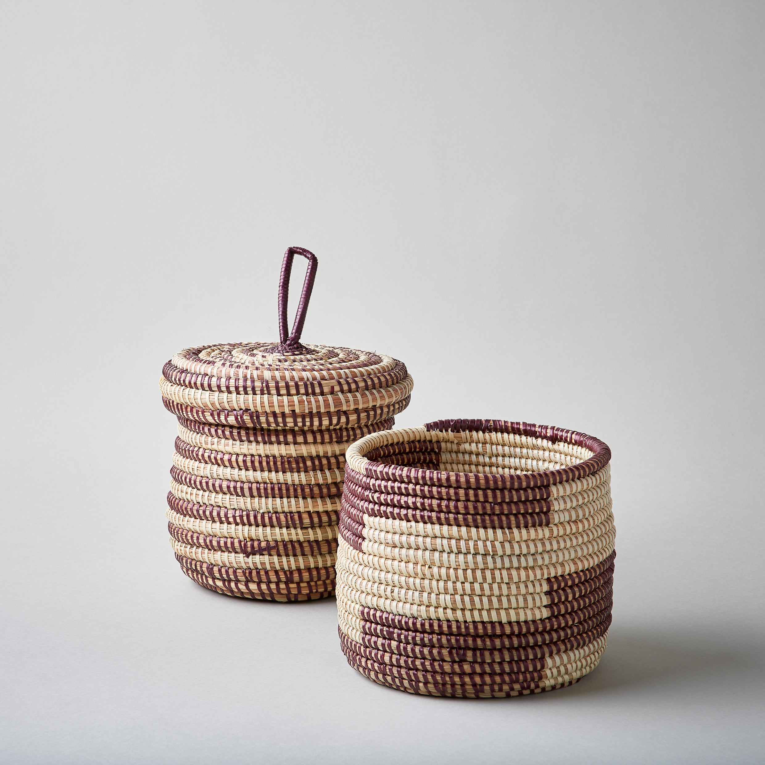 Basket Pot with Lid