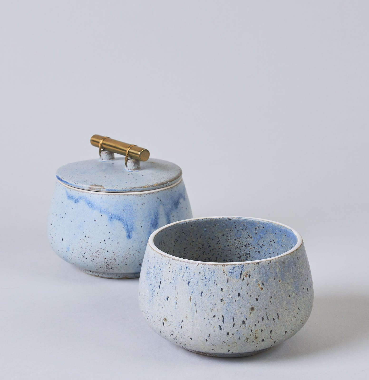 Blue / Grey Ceramic Storage Jar