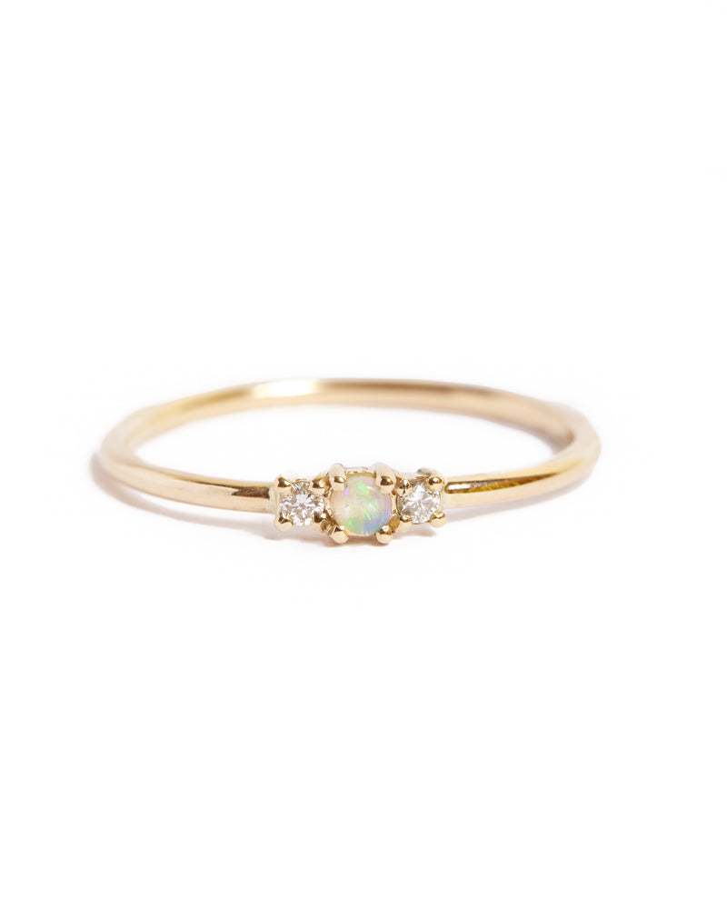 Jupiter Opal & Diamond Ring - 9ct Gold