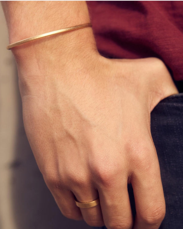 Bevel Cuff - 14ct Yellow Gold