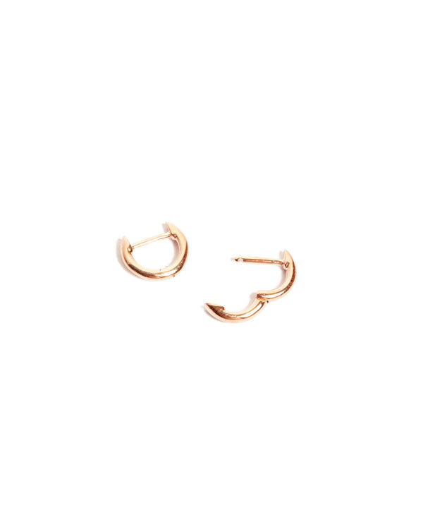 Round Huggies Extra Small - 9ct Rose Gold
