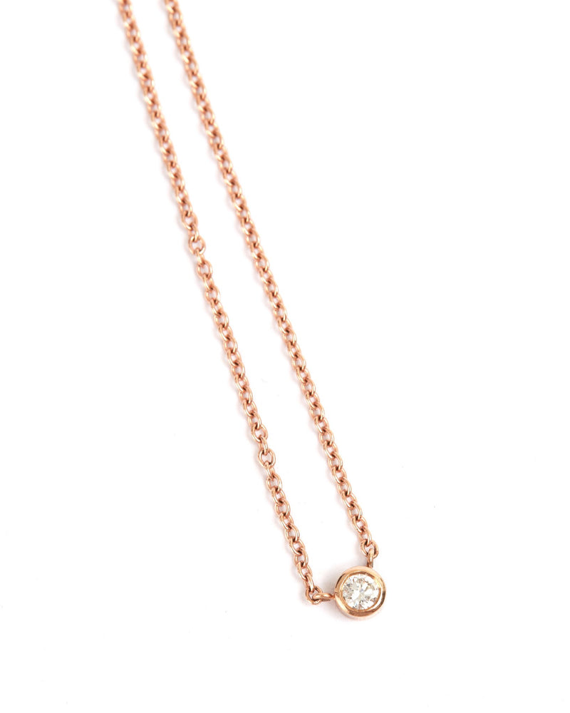 Neo Diamond Necklace - 9ct Rose Gold