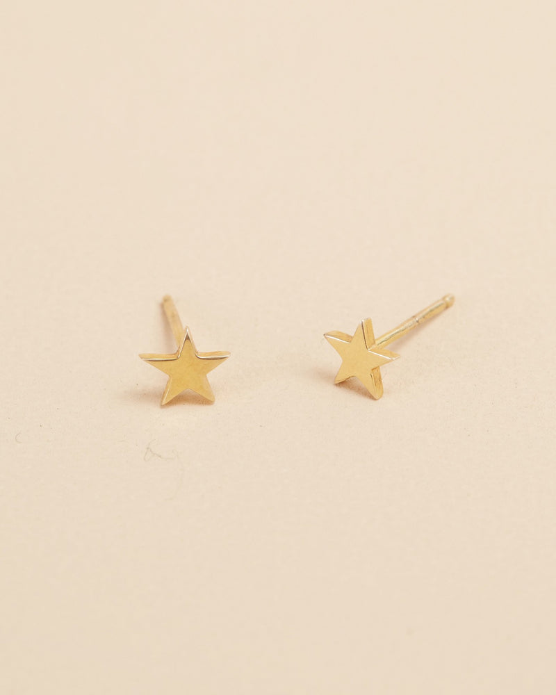 Star Studs - 9ct Gold