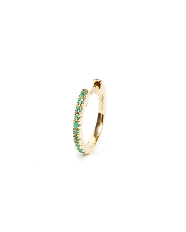 Emerald Huggie Medium - 14ct Gold