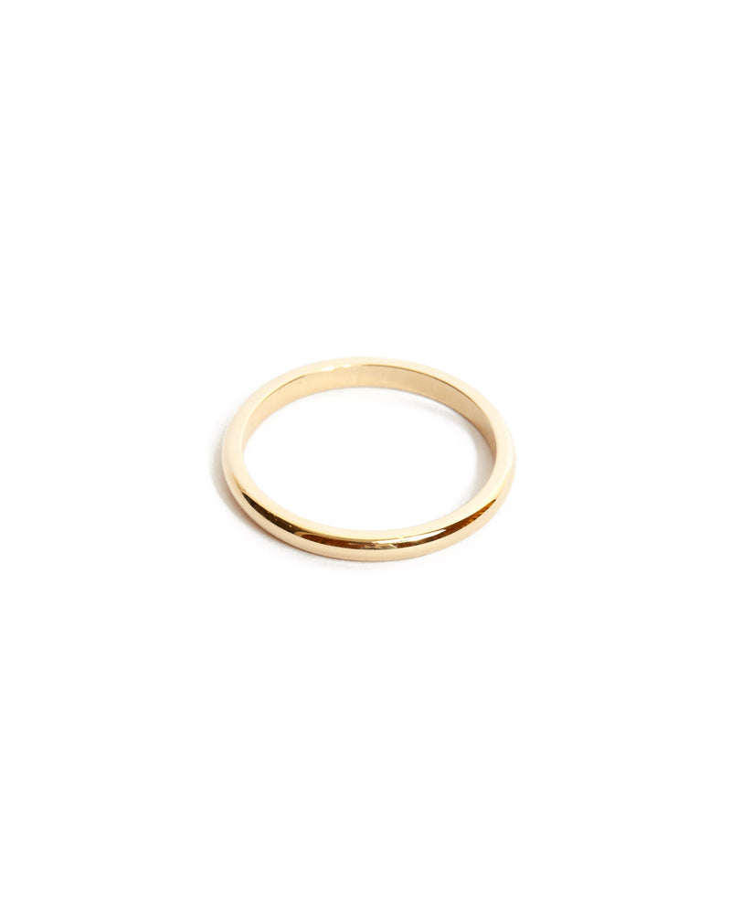 Half Round Ring 2mm - 14ct Gold
