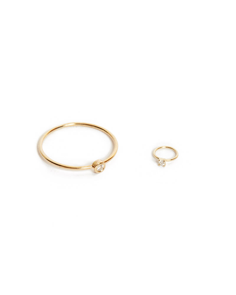 Tiniest Diamond Ring - 9ct Gold