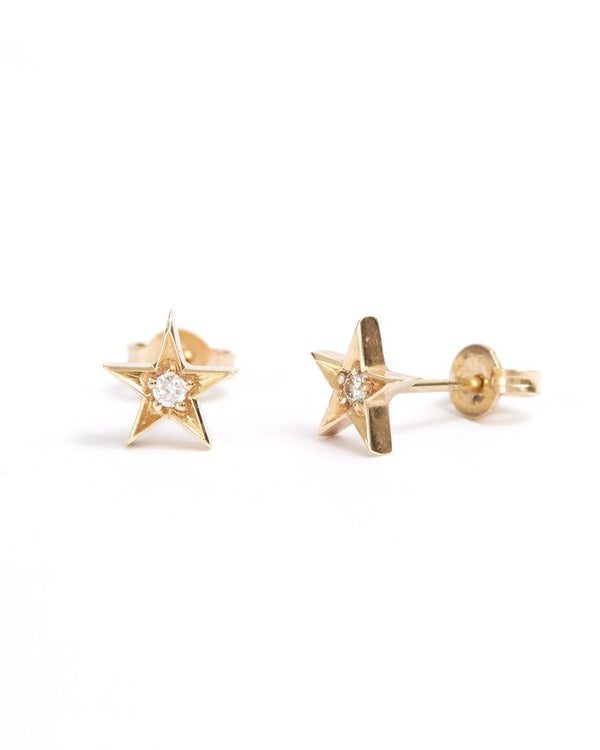 Star Diamond Stud - 9ct Gold