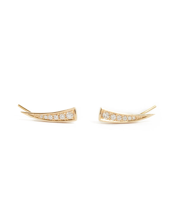 Tusk Diamond Stud - 9ct Gold