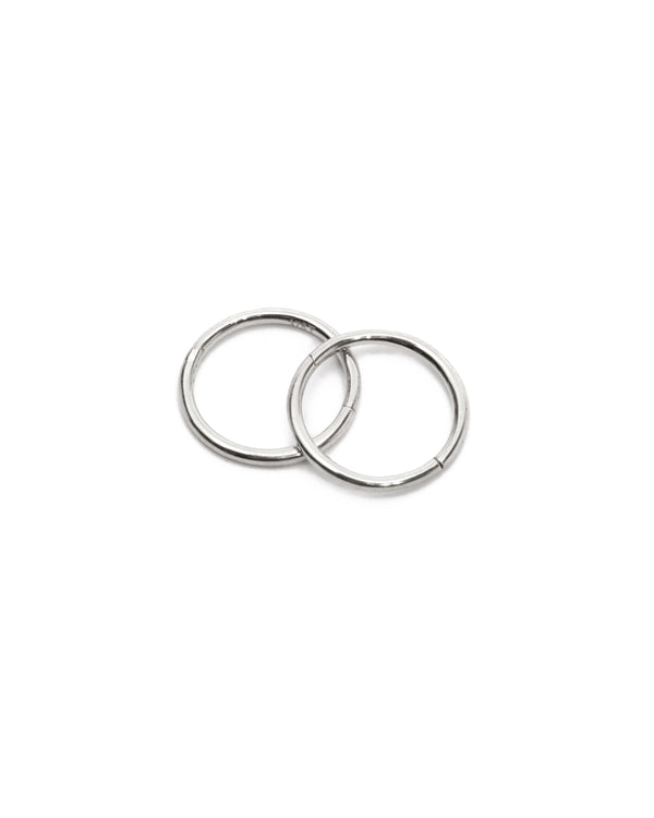 Sleeper Hoops 10mm - 9ct White Gold