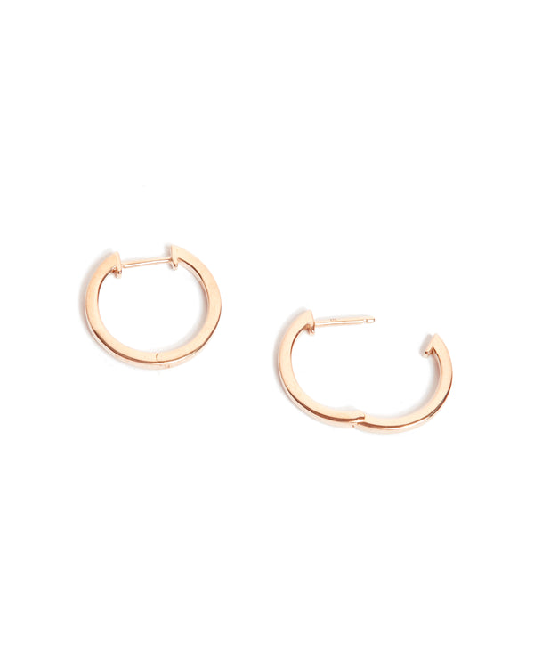 Square Huggies Large - 9ct Rose Gold