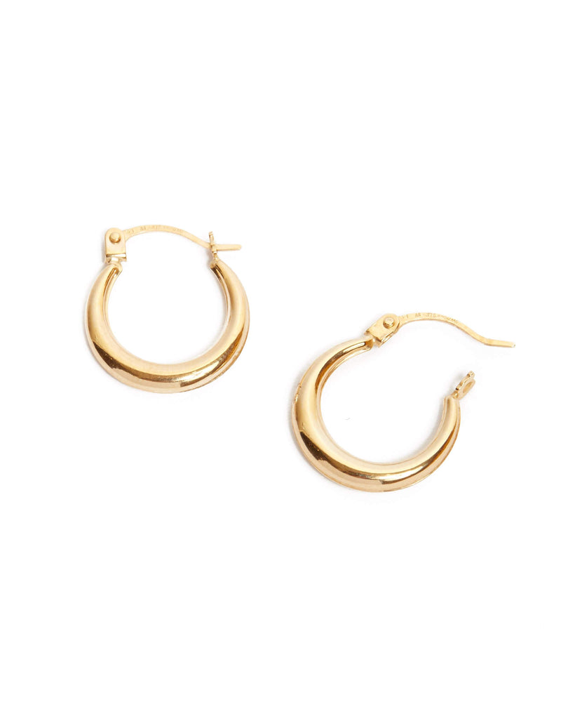 Graduated Tube Hoops Extra Small - 9ct Gold