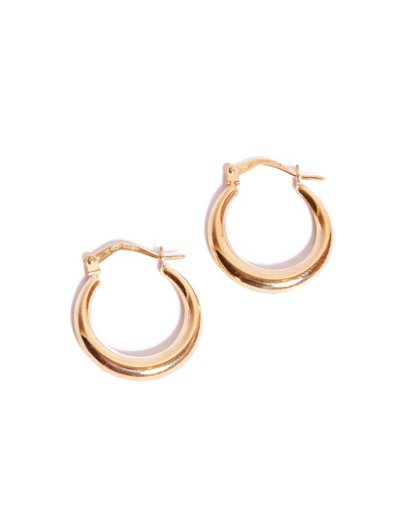 Graduated Tube Hoops Small - 9ct Gold