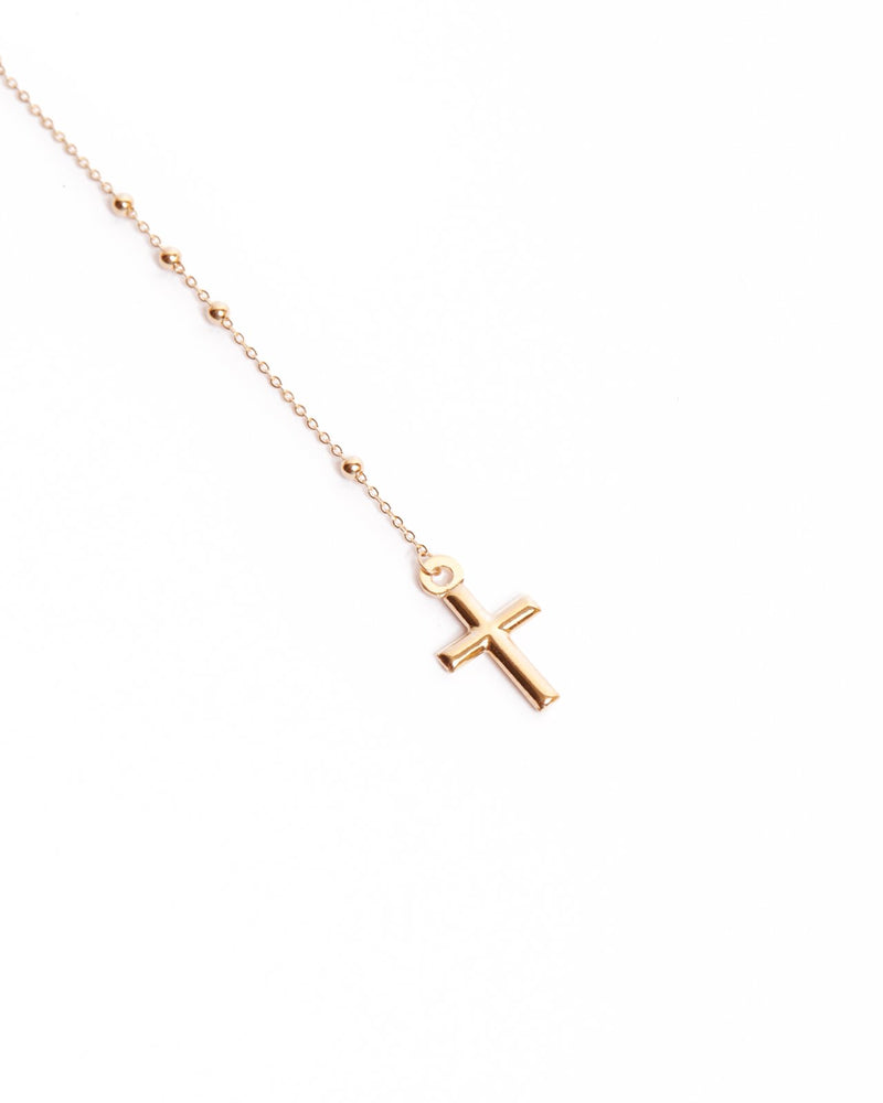 Rosary Necklace - 9ct Gold