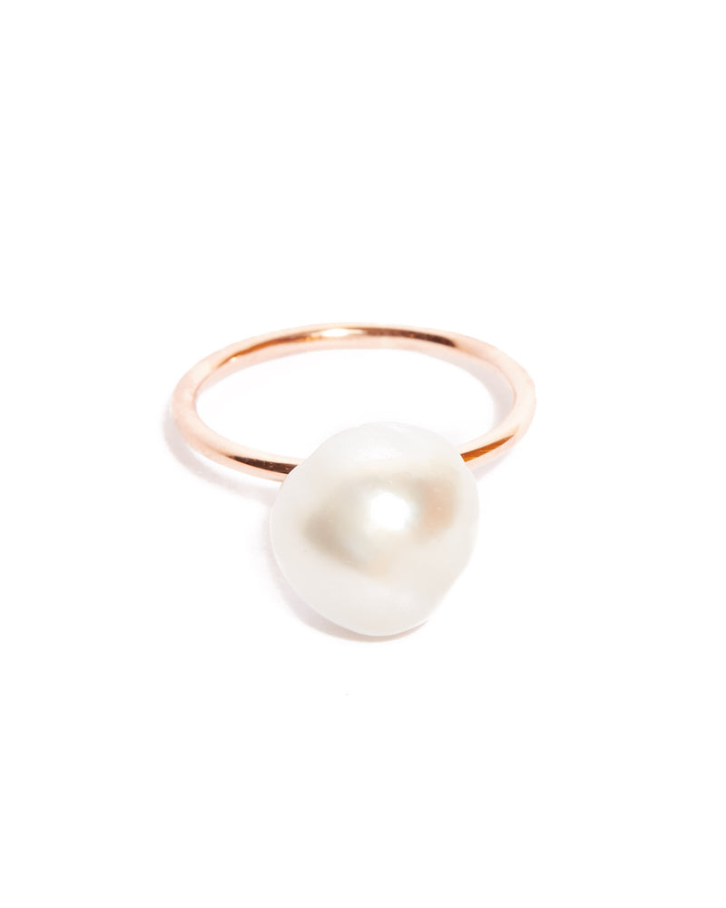 Siren Pearl Ring - 9ct Rose Gold