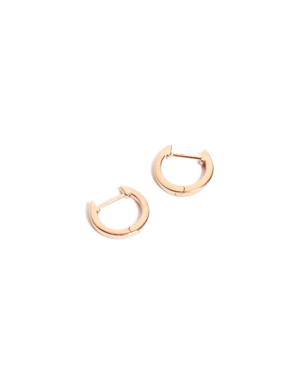 Square Huggie Small - 9ct Rose Gold