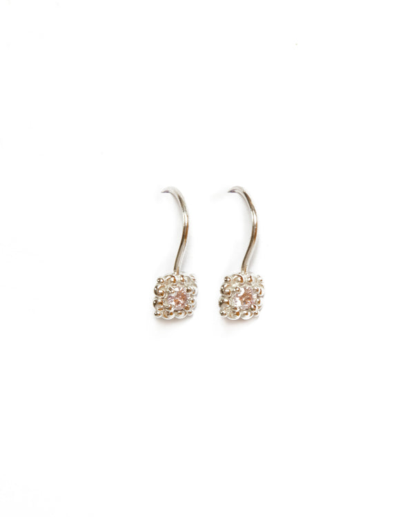 Rococo Pink Diamond Earrings - 18ct White Gold