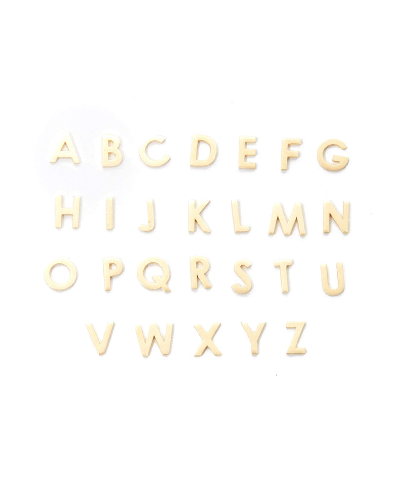 Letter Stud - 9ct Gold