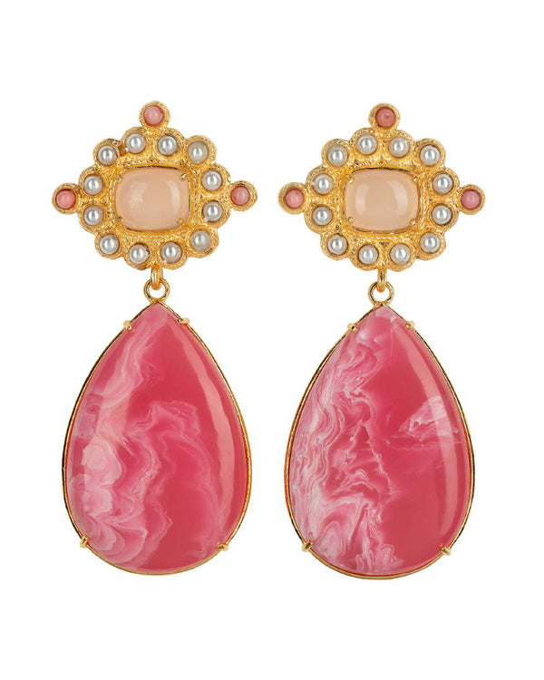 Carmina Earrings Pink