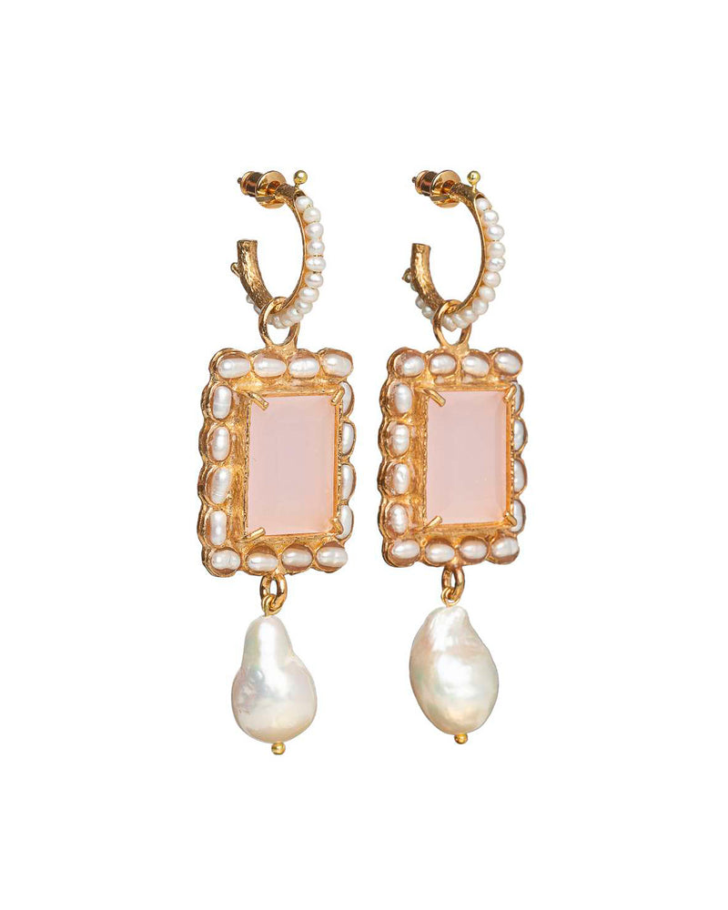 Aurelia Earrings Pale Pink