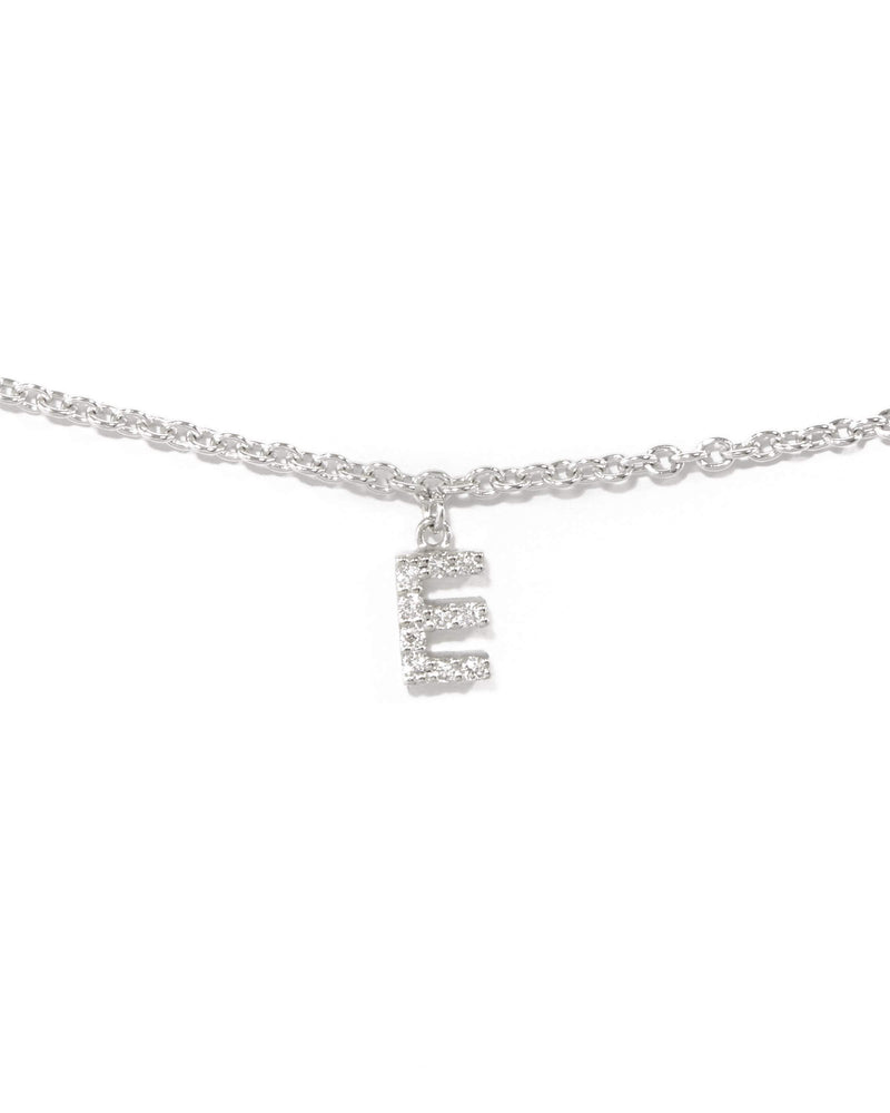 Diamond Letter Bracelet - 9ct White Gold