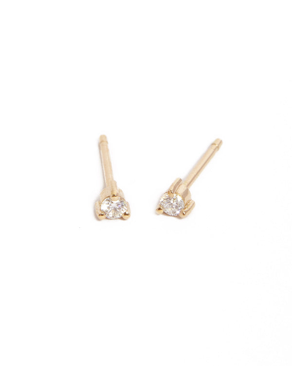 Neo 5pt Diamond Stud - 9ct Gold